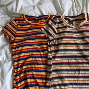 2 striped shirts